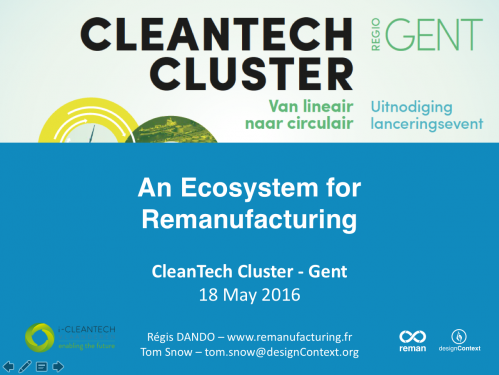 An ecosystem for remanufacturing