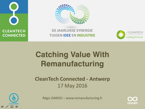 Catching value with remanufacturing